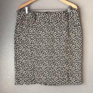 Valerie Bertinelli Leopard Print pencils Skirt